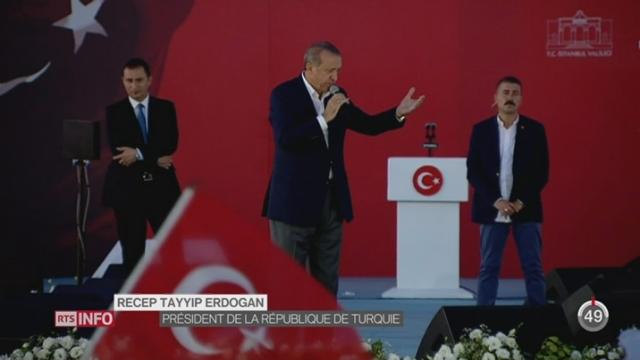 Turquie: Recep Tayyip Erdogan approuve le rétablissement de la peine de mort [RTS]