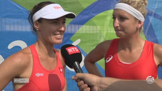 Rio 2016 - Bascinsky et Hingins remportent les 1-8 de finale: la réaction des deux joueuses [RTS]