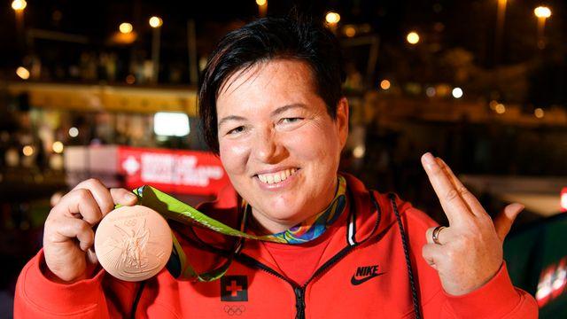 La Suisse a obtenu sa première médaille, grâce à Heidi Diethelm Gerber. [Laurent Gillieron - Keystone]