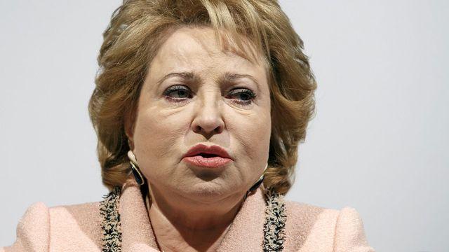 La présidente de la chambre haute du parlement russe Valentina Matviyenko. [Salvatore Di Nolfi - Keystone]