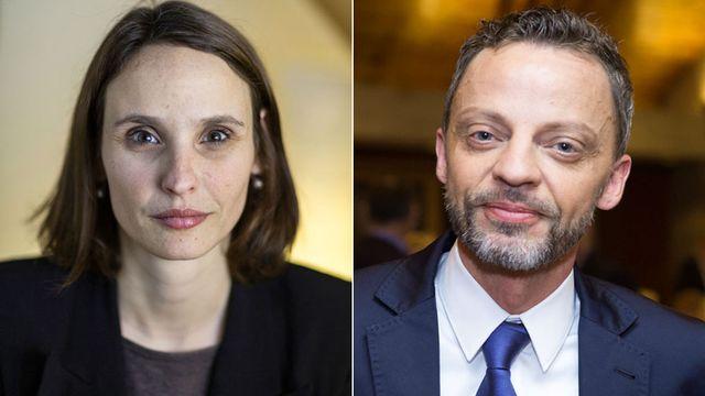 Claudine Esseiva et Hans-Ueli Vogt. [Keystone]