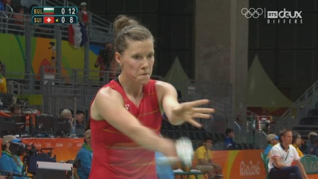 Badminton (D). Sabrina Jaquet (SUI) s'incline face à Linda Zetchiri (BUL) 21-17-21-15 [RTS]