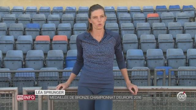 Rio 2016-Athlétisme: Léa Sprunger rêve d'une finale olympique à Rio [RTS]
