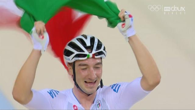Omnium messieurs, course aux points: malgré sa chute, Elia Viviani (ITA) roule sur l'or [RTS]