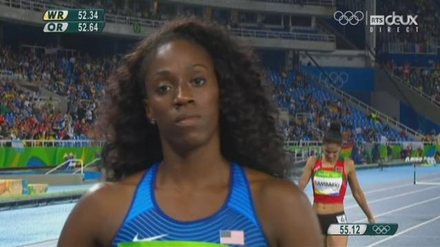 Athlétisme, 400m haies (3e série): Ashley Spencer (USA) l'emporte en 55'12. Léa Sprunger (SUI) déçoit. La Vaudoise finit 5e en 56''58 [RTS]
