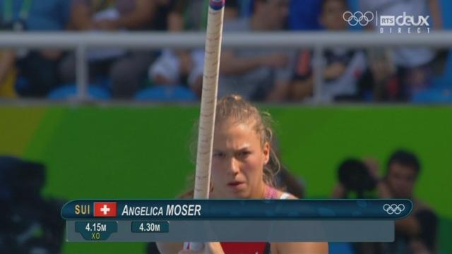 Saut à la perche, dames: Premier saut raté à 4.30 m pour Angelica Moser [RTS]