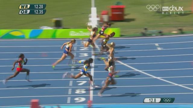 100 m haies:  Clélia Rard-Reuse (SUI) finit quatrième de sa série [RTS]