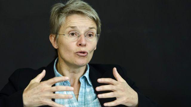 La conseillère d'Etat vaudoise Anne-Catherine Lyon. [Jean-Christophe Bott - Keystone]