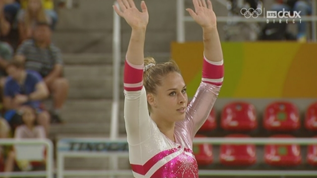 Gymnastique, finale dames sol: déception pour Giuilia Steingruber (SUI) qui obtient 11.800 [RTS]