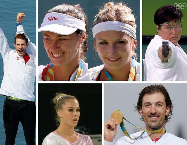 Les médailles suisses