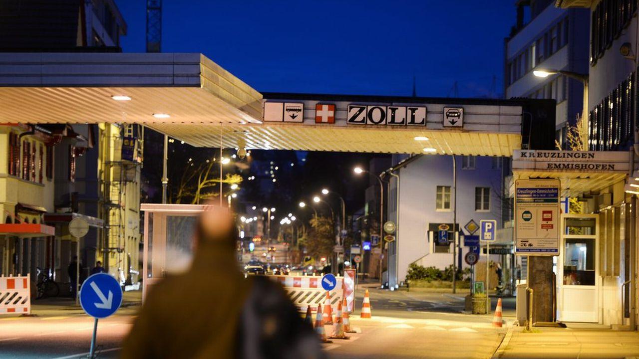 La douane séparant Kreuzlingen, dans le canton de Thurgovie, et Constance, en Allemagne. [EPA/Felix Kaestel - Keystone]