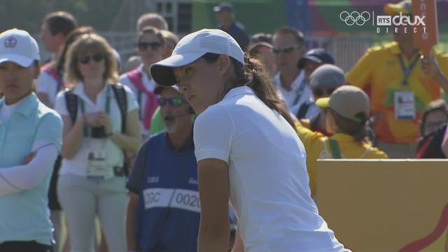 Golf, 1er tour dames: 1er coup olympique pour la jeune Albane Valenzuela (SUI) [RTS]