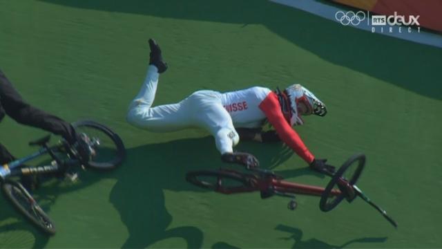 BMX messieurs, ¼ : David Graf (SUI) chute à nouveau pour son second run [RTS]