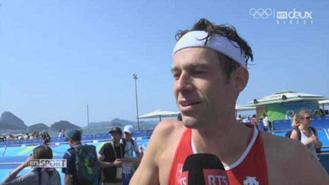 Triathlon messieurs : Sven Riederer au micro de la RTS [RTS]