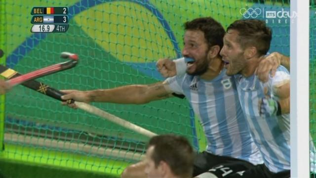 Hockey messieurs, finale : BEL-ARG (2-4): l'Argentine remporte l'or olympique face à la Belgique! [RTS]