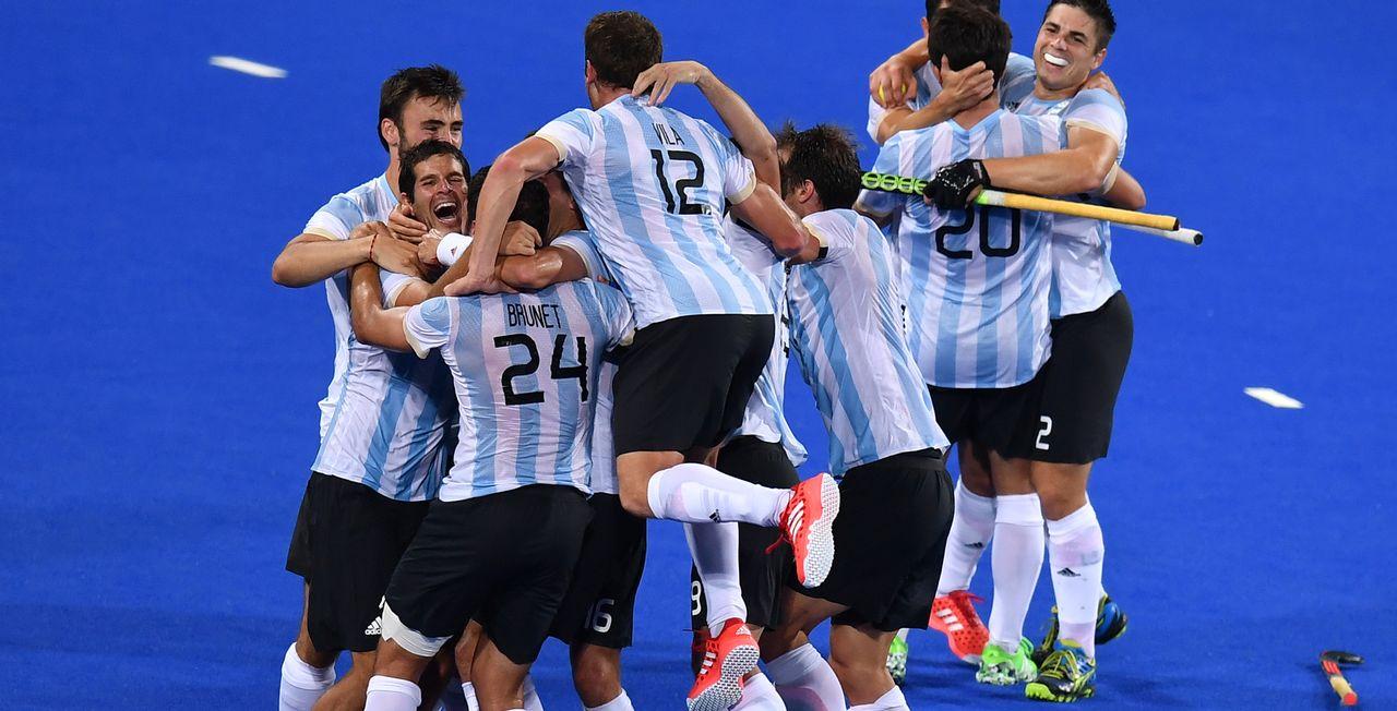 Les Argentins a décroché un titre historique. [Manan Vatsyayana - AFP]