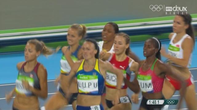 800 m dames: Selina Buchel (SUI) termine 3e de sa série et se qualifie pour la finale [RTS]