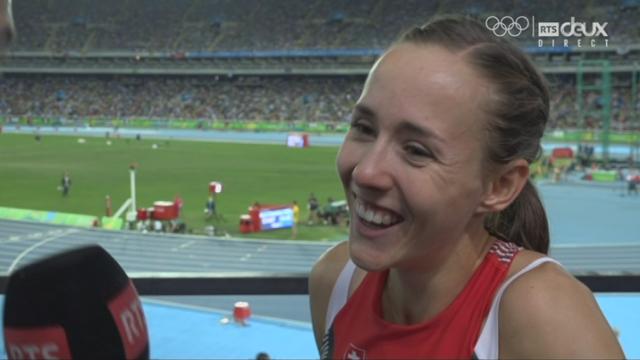 800 m dames: malgré la déception, Selina Buchel (SUI) reste souriante au micro de la RTS [RTS]
