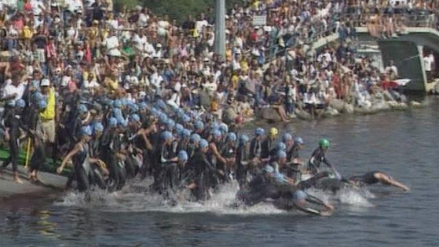 Championnats du monde de triathlon à Lausanne en 1998. [RTS]