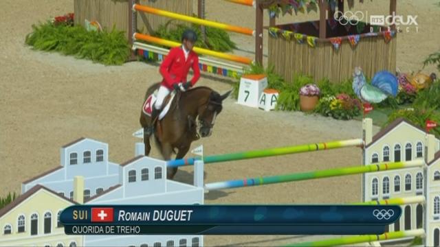Saut, individuel: Romain Duguet (SUI) ne réussit pas bien son premier passage avec 12 points [RTS]