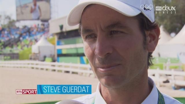 Hippisme, individuel, finale. Interviews des deux qualifiés suisses, Martin Fuchs et Steve Guerdat (tous deux sans faute avant la finale) [RTS]