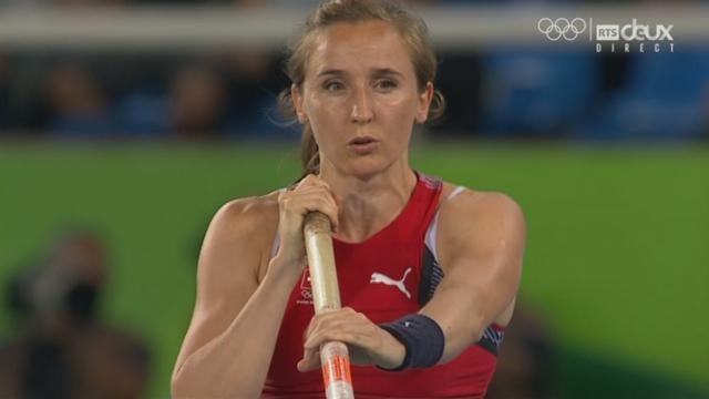 Athlétisme, saut à la perche: Nicole Buechler réussit son saut de 4m70 du premier coup ! [RTS]