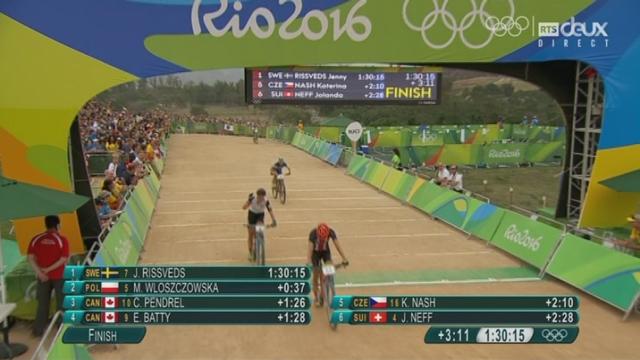 VTT dames. La seconde Suisses, Linda Indergand, termine 8e. Diplôme olympique également pour l'Uranaise [RTS]