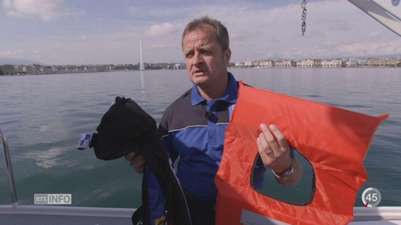 Ne pas porter un gilet de sauvetage sur les lacs suisses peut coûter cher [RTS]
