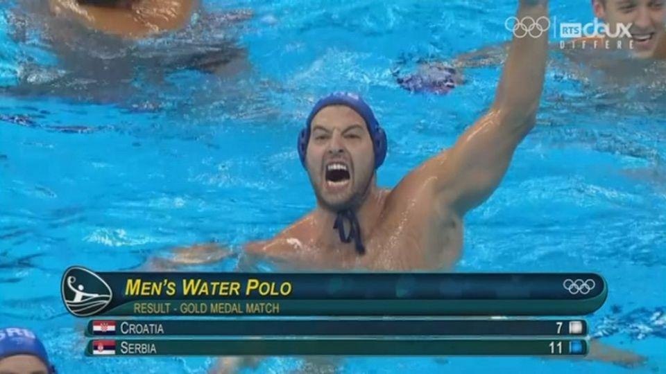 Water-polo hommes: la Serbie s'impose contre la Croatie 11 à 7 ! [RTS]