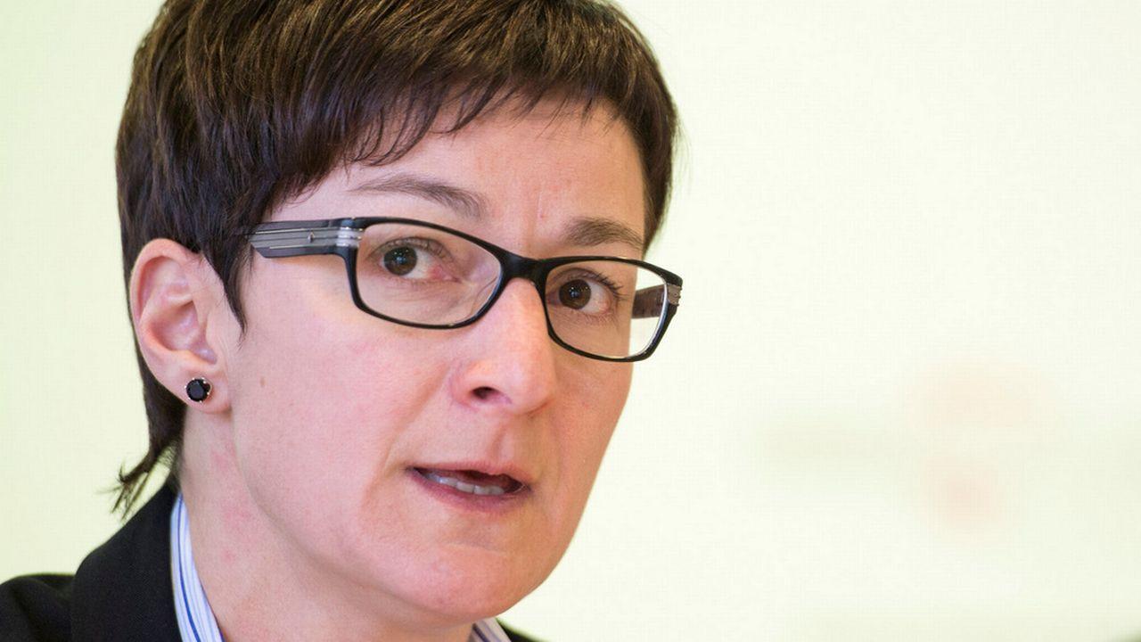 Karin Perraudin, présidente du Groupe Mutuel. [Maxime Schmid - Keystone]