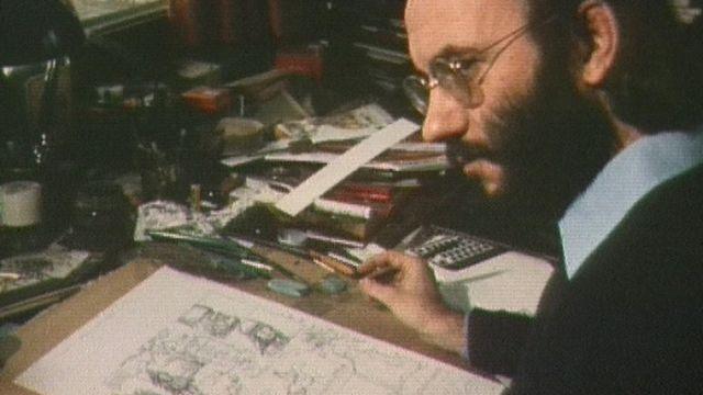 Derib dessine une planche de la bande dessinée Buddy Longway en 1980 [RTS]