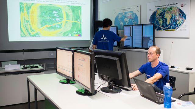 Le Service sismologique suisse, à Zurich, est le principal organisme fédéral compétent en matière de tremblements de terre. [Ennio Leanza - Keystone]