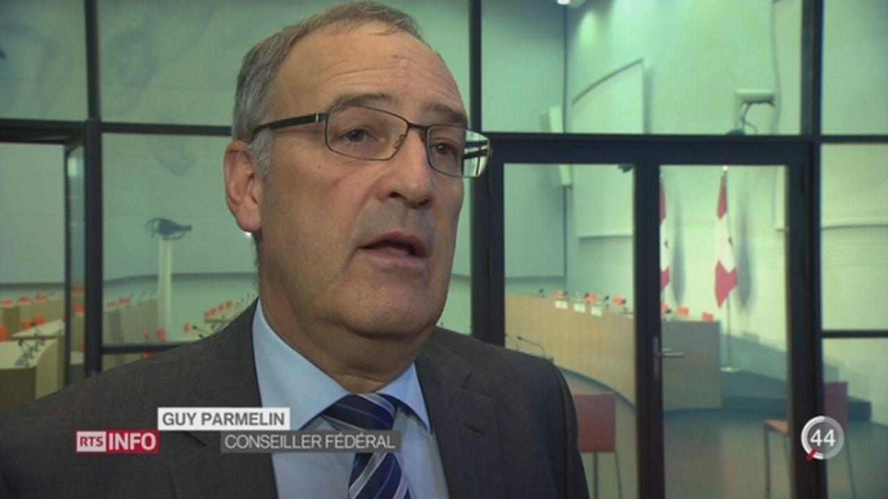 Guy Parmelin pointe les menaces potentielles pour la sécurité en Suisse dans son rapport annuel [RTS]