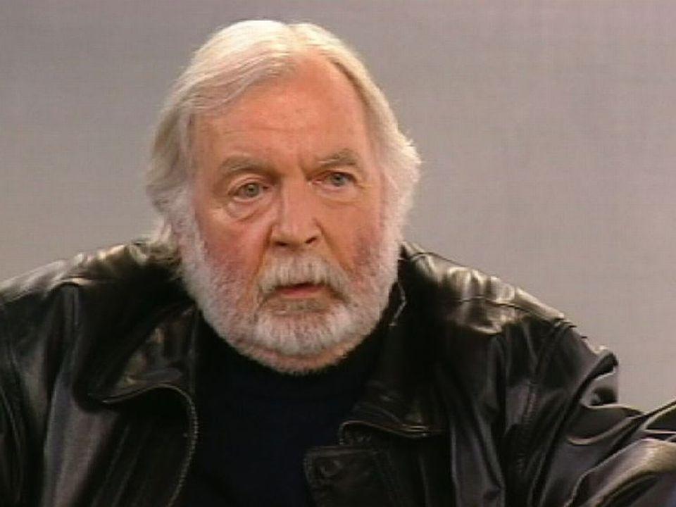 L'écrivain suisse Jacques Chessex. [RTS]