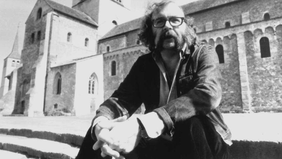 L'écrivain Jacques Chessex à Payerne en 1977. [Pascal Allamand - RTS]