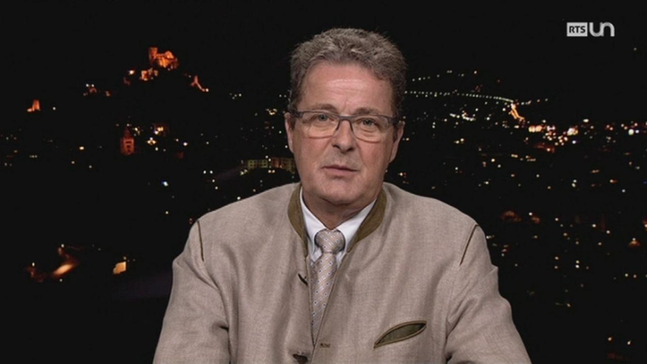 Duplex Jean-René Fournier, conseiller aux Etats, PDC, VS [RTS]