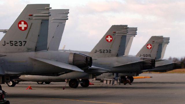 Un F/A-18 de l'armée suisse. [Eddy Risch - key]