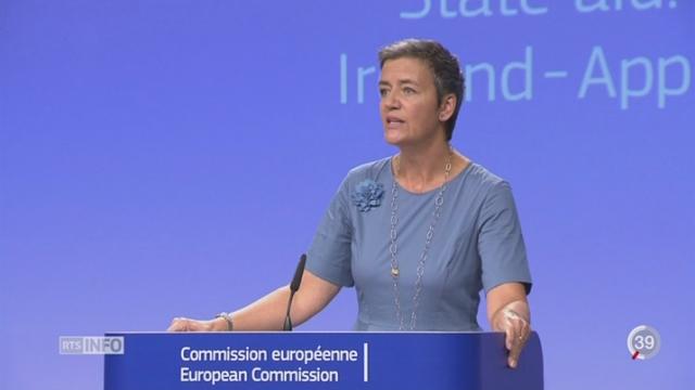 La Commission européenne condamne Apple à verser 14 milliards d'impôts impayés [RTS]