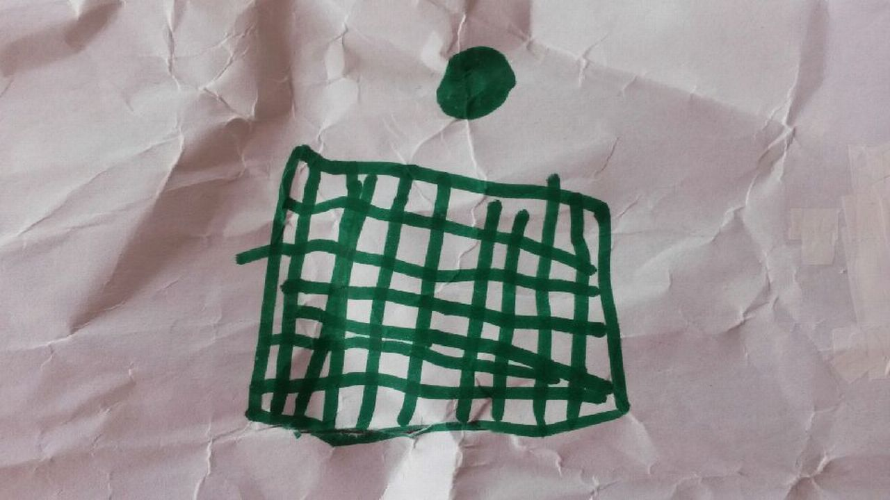 Dessin de prison d'une fillette de 8 ans, abusée par son grand-père. [Véronique Marti - RTS]
