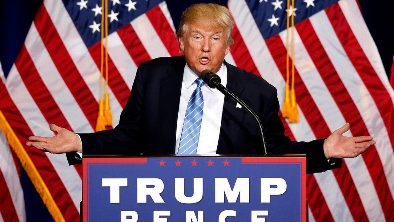 Le candidat républicain Donald Trump lors de son meeting à Phoenix. [Ross D. Franklin - Keystone]