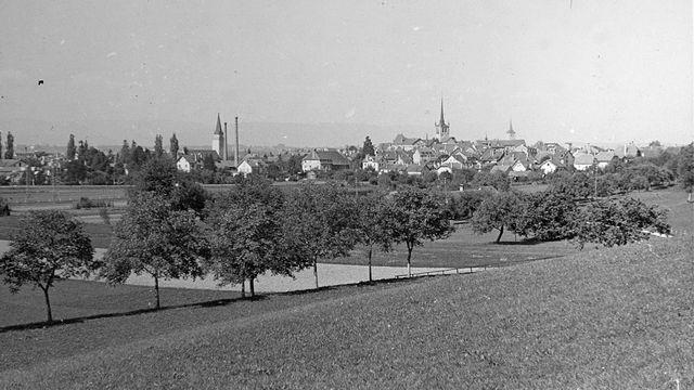 La ville de Payerne en 1940. [Leo Wehrli - ETH-Bibliothek Zürich, Bildarchiv, CC BY-SA 4.0]