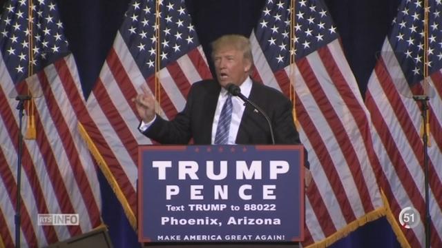 Etats-Unis: Donald Trump adopte un ton moins conciliant sur l'immigration après sa visite au Mexique [RTS]