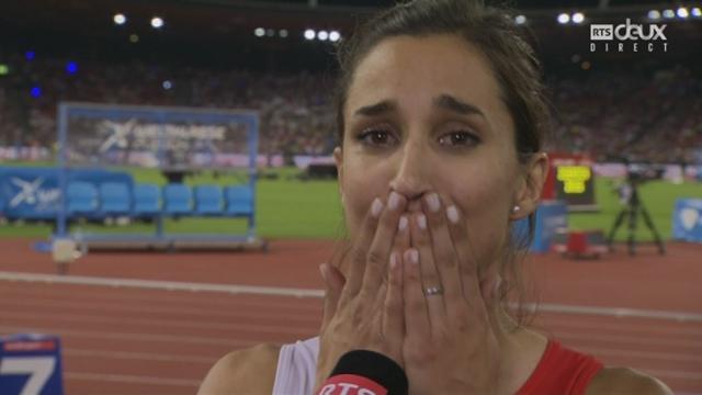 Relais 4x100m femmes: les émotions de la Suissesse Marisa Lavanchy [RTS]