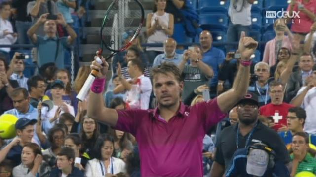 Messieurs, 2e tour : A.Giannessi (ITA) – S.Wawrinka (SUI) (1-6, 6-7, 5-7): victoire compliquée en 3 sets pour Wawrinka qui se qualifie pour les 16e de finale [RTS]