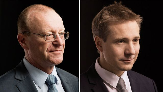 Jean-Luc Addor et Philippe Nantermod. [Keystone]