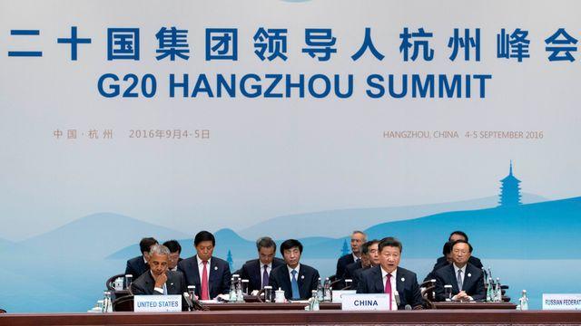 Xi Jinping a appelé à plus de coordination entre les Etats membres du G20. [P Photo/Mark Schiefelbein, Pool - key]