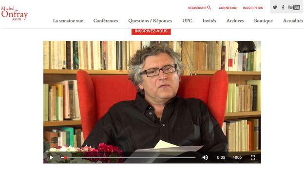 Le philosophe Michel Onfray lance une Web TV pour commenter l'actualité
