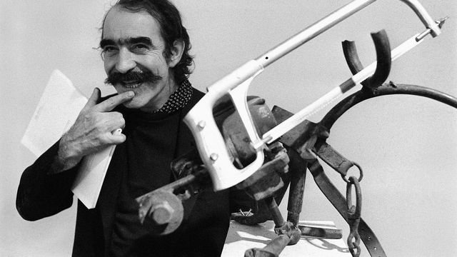 Jean Tinguely en novembre 1974. [Keystone]