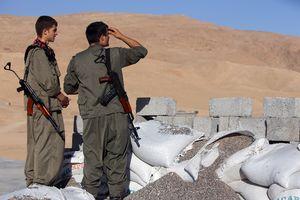 Combattants kurdes en Syrie.