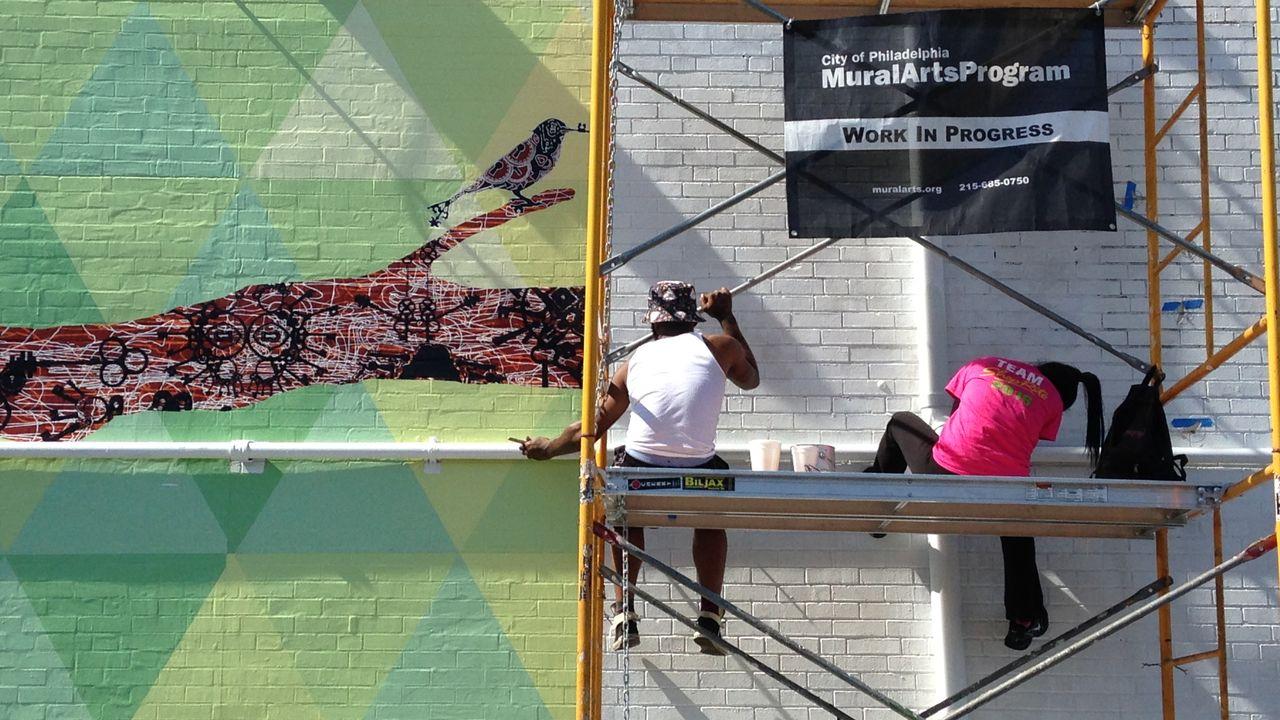 """""""Mural Arts Program"""" à Philadelphie. [Patrick Chaboudez - RTS]"""